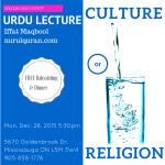 Iffat-Mabool-NurulQuran-12-28-530pm-Culture-or-Religion